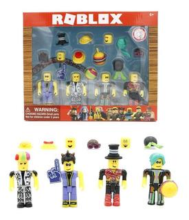 Set 4 Muñecos Roblox Artistas + 12 Accesorios - Combinables