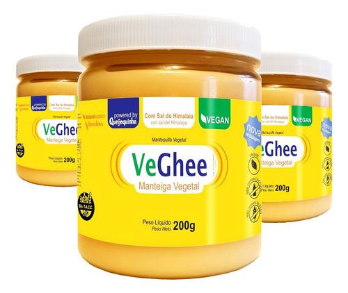 Imagem 1 de 4 de Veghee Manteiga Vegana Com Sal 200g ( 3 Und )