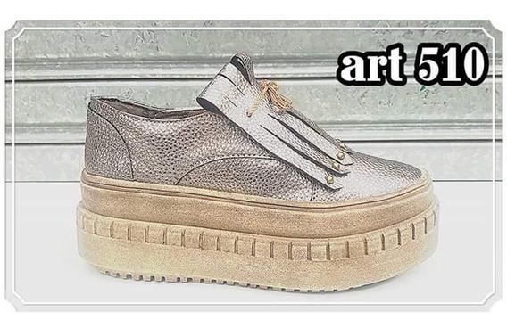 Zapatillas Zapatos Plataforma Peltre Nuevos