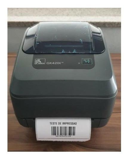 Impressora Zebra Gk420t Termica Com Print Server Hp Seminova