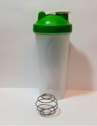 Vaso Fitness Con Batidor. Tapa Color Verde De 600ml. Bueno!!