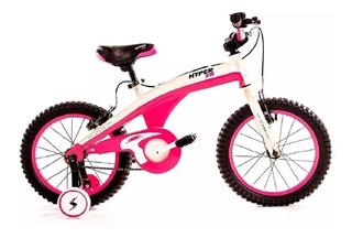 Bicicleta Niña Rodado 12 Stark Hypper Xr Fucsia Rueditas Cuo