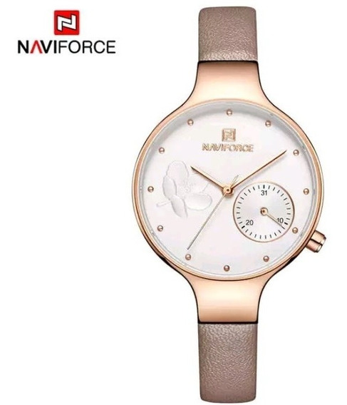 Relógio Feminino Naviforce Marron Claro