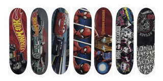 Patineta Skateboard Skate Infantil Hot Wheels Spiderman Cars