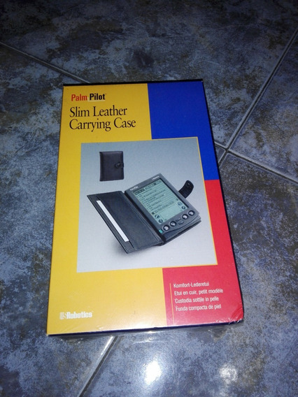Slim Leather Carrying Case Para Palm Pilot