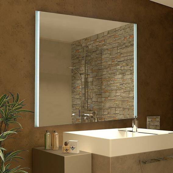 Espejo 2 Con Luz Led Touch 28w Deco Baño Moderno 80x60 Cm