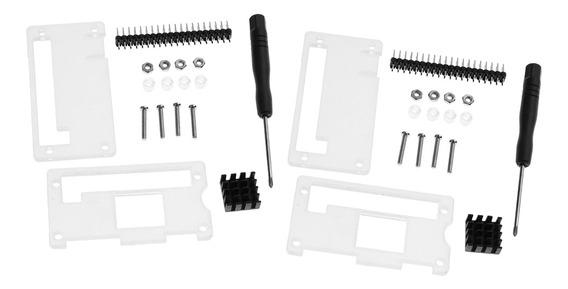 2pack Acrílico Caso Cobertura + Dissipador + Conector Gpio