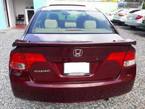 Honda Civic Rojo Vino Americano Con Spoiler Y Aros