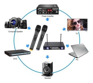 Sistema De Microfonos Inalambricos 30m Alcance
