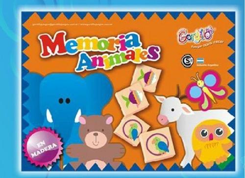 Memoria De Animales Gordillo Juego Madera Didactico
