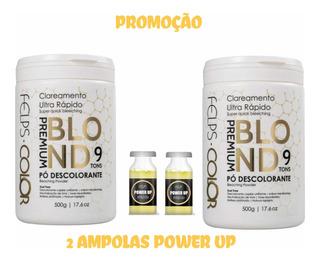 Felps 2 Pó Descolorante Premium Blond 9 Tons 500g+ Brinde