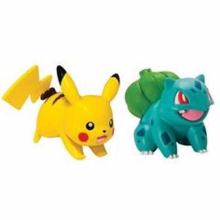 Pokemon Pikachu Vs Bulbasaur 2 Figuras Orignal Tomy