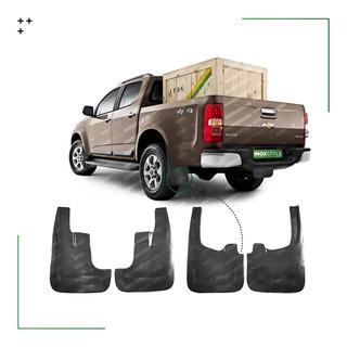 Juego 4 Barreros Plastico Rigidos Para Chevrolet S10 Nueva 2013/19 Kit De Accesorios X4