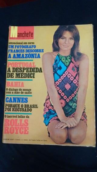 Revista Manchete - Jacqueline Bisset, Cannes, Bahia, Médici