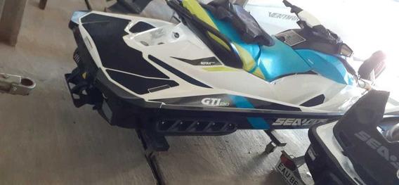 Jet Ski Seadoo 130 Gti, 33 Horas De Uso, Ano 2016 Com Ânc