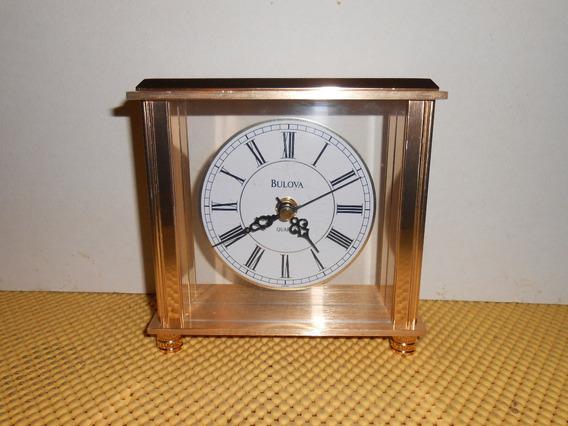 Reloj De Escritorio Bulova Laton B1703 (01)