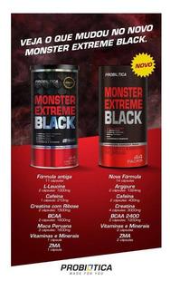 Monster Extreme Black 44 Packs Probiótica Nova Fórmula N/f