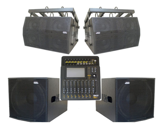 Mesa Som Digital 20ch Processadores Line Array Ativo 6000w