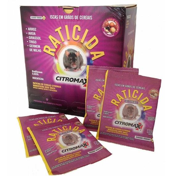 Veneno Raticida Rato Cereais Citromax - 1kg - 40 X 25gr