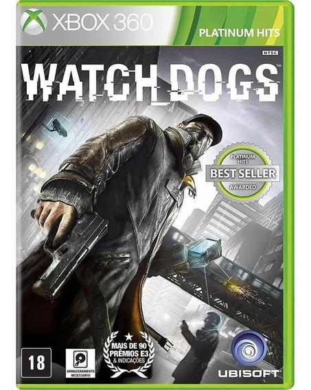 Jogo Watch Dogs Xbox360 Mídia Física Novo Frete 10,00 Cr
