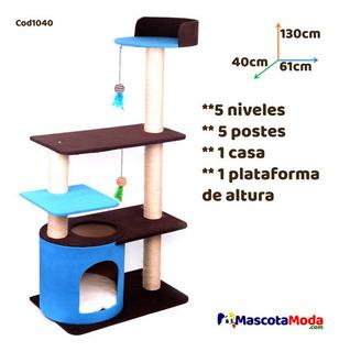 Rascador Gimnasio Completo Y Con Altura Para Gatos Cod1040