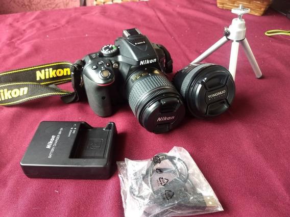 Câmera Nikon D5300 - Lente 18-55mm+bolsa+tripe - Semi Nova