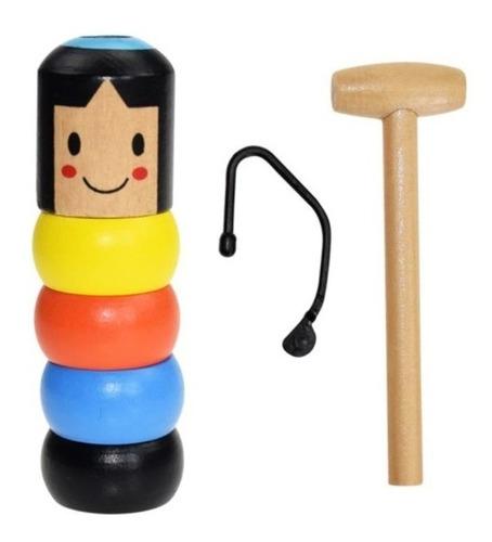 Brinquedo Madeira Mágico Daruma Inquebrável Imortal Educativ