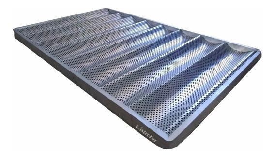 Baguetera 60x40 De Aluminio Marco Reforzado Con Ondas