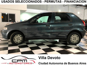 Fiat Palio 1.3 Gnc Aa 5 Puert Financio Permuto 2003 Azul Cpm