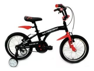 Bicicleta Fire Bird Racer Rodado 16 De 5 A 7 Años
