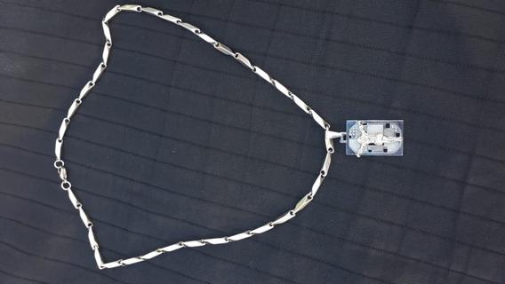 Corrente De Aço Priastrine Laminada 5mm 62cm Com Pingente