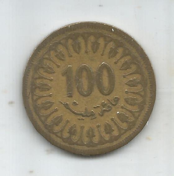 M 9053 Tunez Moneda 100 Millim 1983