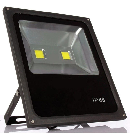Refletor Holofote Led 100w Slim Branco Frio Casa Loja Ip66