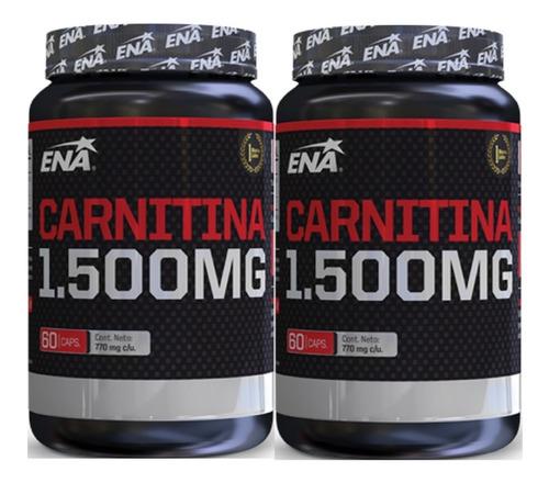 Carnitina 1500 Mg (60 Caps) Ena - Quemador X 2 Unidades!