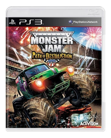 Monster Jam Path Of Destruction Ps3 Midia Fisica Lacrado