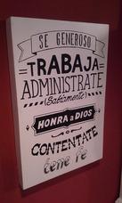 Cuadros Con Frases Cristianas Decoracion Para El Hogar En Mercado