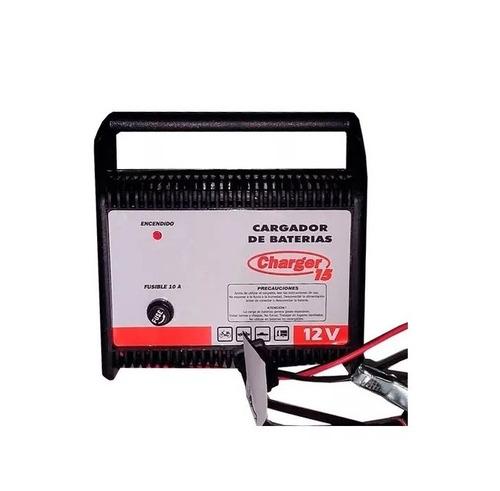 Cargador De Baterías Para Autos Charger 15 Para Baterias De 12 Volts Carga 15 Ampers Por Hora