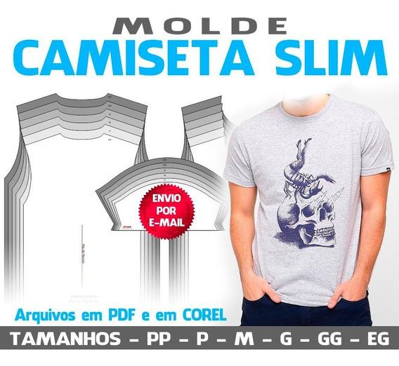Molde Camiseta Slim (pdf E Cdr) Com Gabaritos P Sublimação