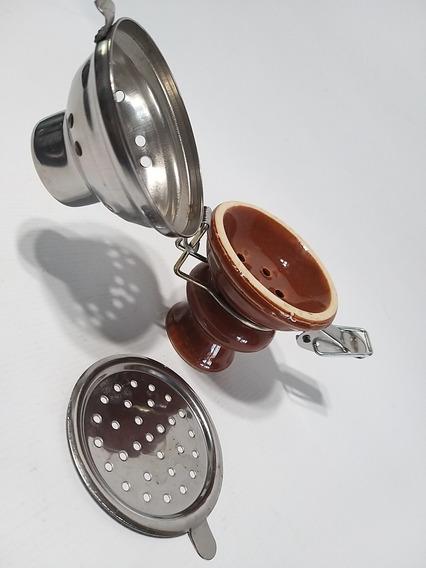 Cabezal Shisha Narguile De Cerámica Esmaltado Unico 10x7.5cm