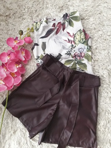 Conjunto Short E Body Vinho
