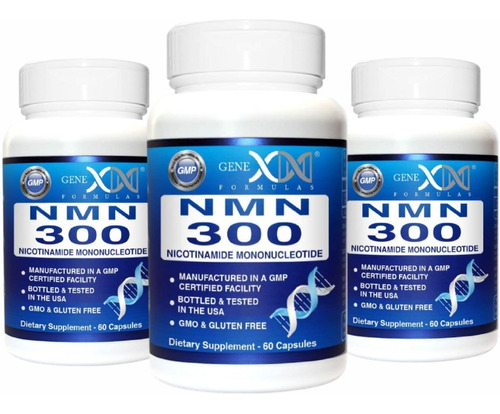 Imagem 1 de 9 de Nmn Nicotinamide Mononucleotide 300mg - 3 Frascos