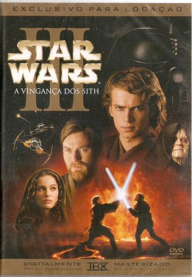 Dvd Star Wars - A Vingança Dos Sith - Novo***