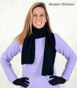 Kit Gorro 3 Em 1 + Cachecol Duplo De Fleece Para O Frio