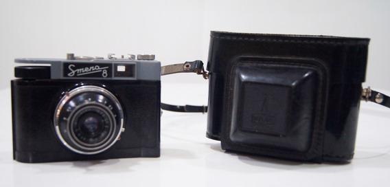 Antiga Câmera Analógica Smena 8 Para Decoração
