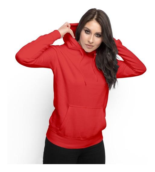 Moletom Feminino Liso Abrigo Inverno Blusa Casaco Promoção