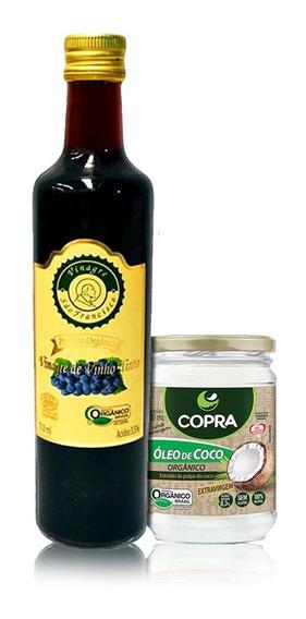 Kit - Vinagre Orgânico + Óleo De Coco Orgânico 200ml