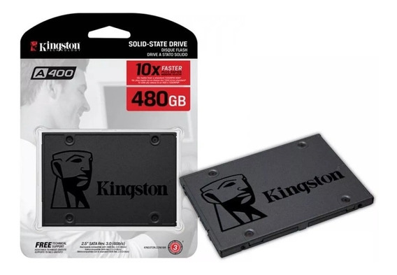Ssd 480gb Kingston A400 2.5 Sata Iii 500mb/s