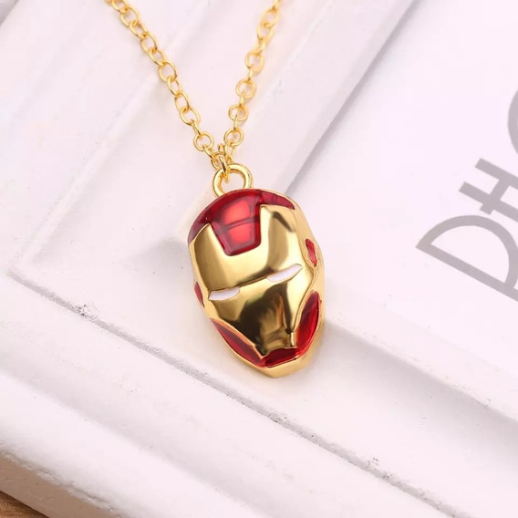 Collar Iron Man Dorado Avengers Marvel