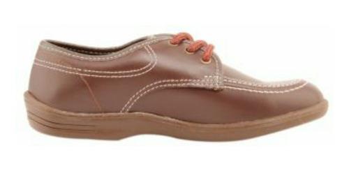Zapatos Café En Cuero Croydon Talla 27 Y 32
