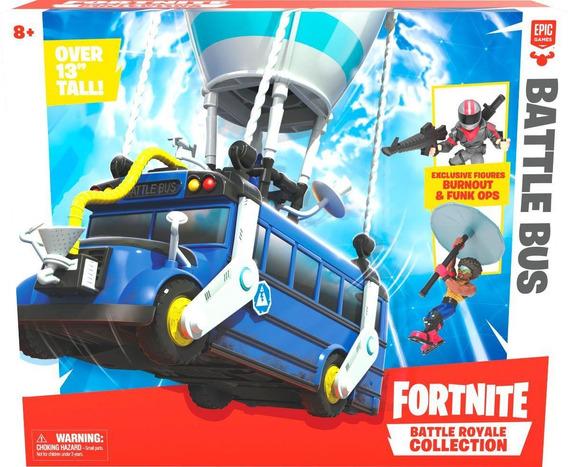 Fortnite Vehiculo Battle Bus + 2 Figuras De 5 Cm